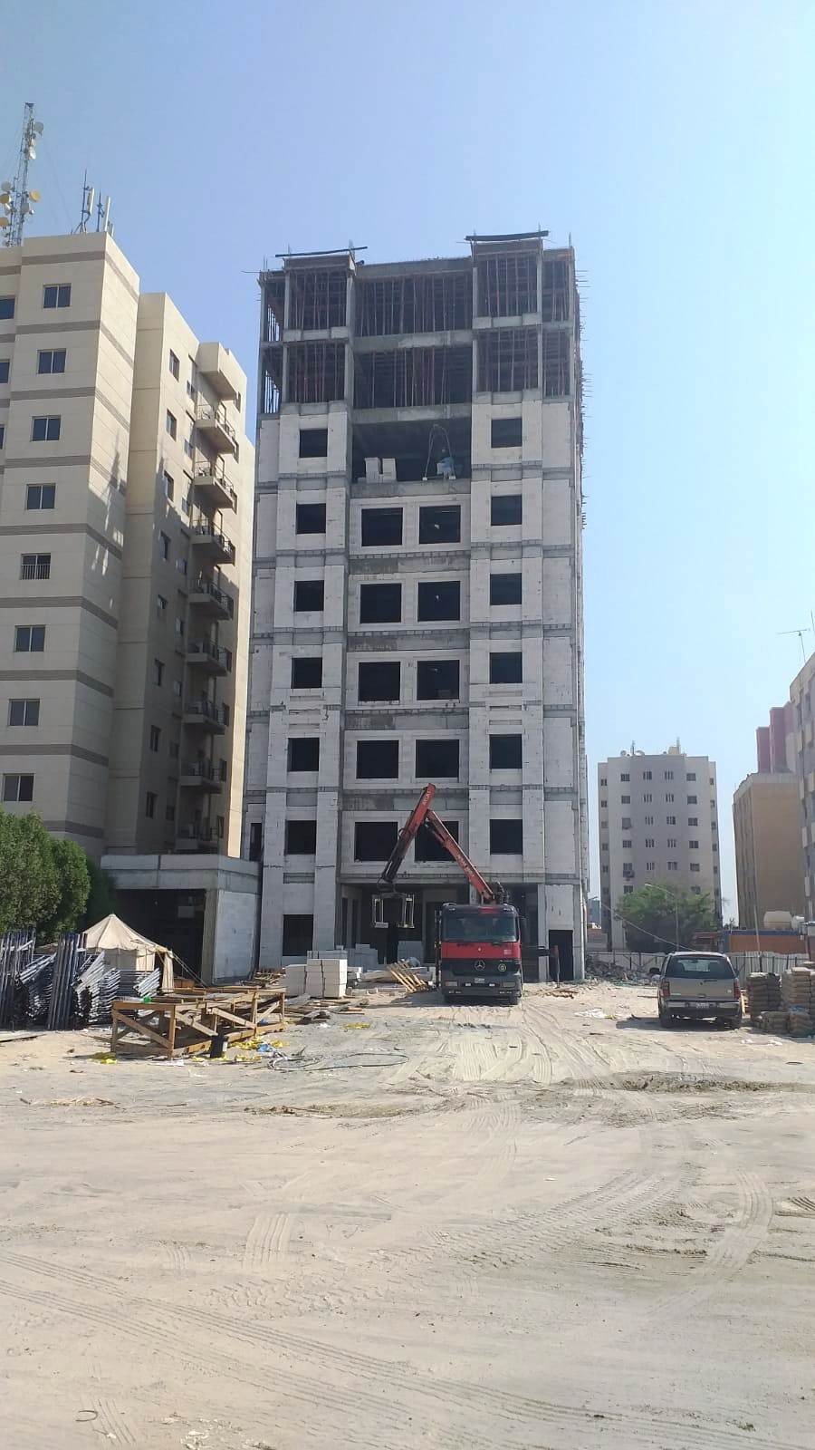 New building under construction in Mangaf